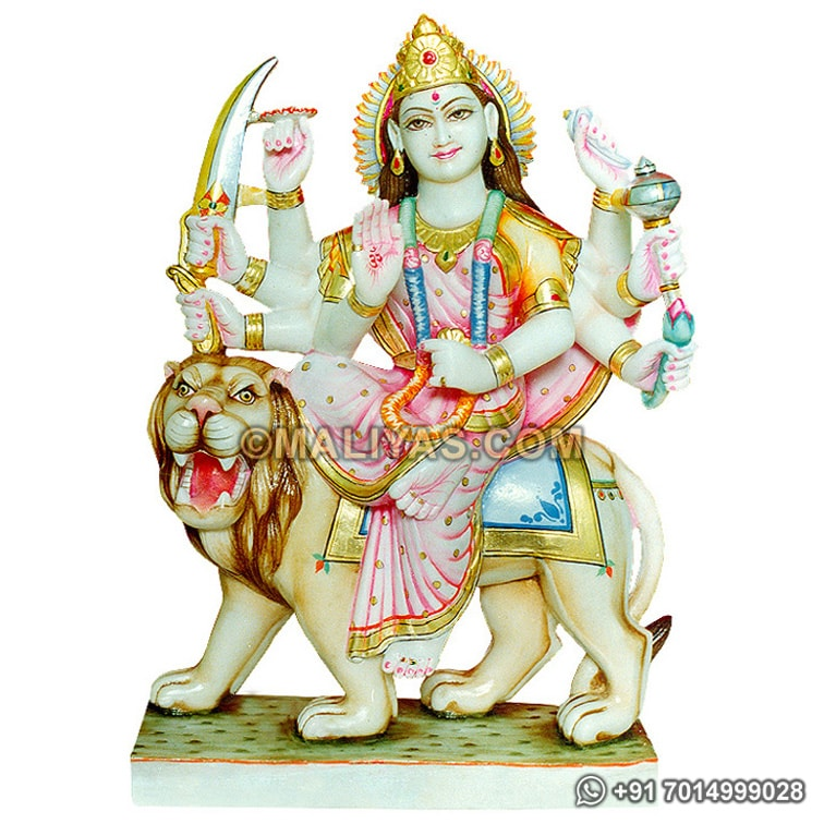 Beautiful Goddess Durga maa from White Marble
