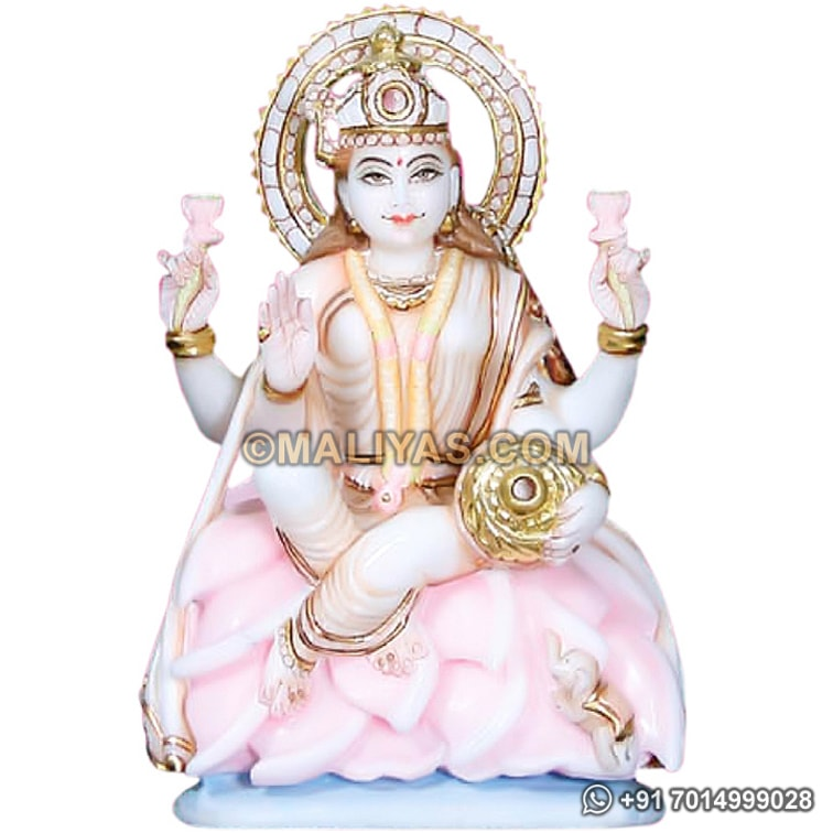 Exclusively Designed Marble Lakshmi Statue