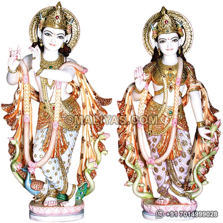 Exquisite Radha Krishna Statue from Jaipur