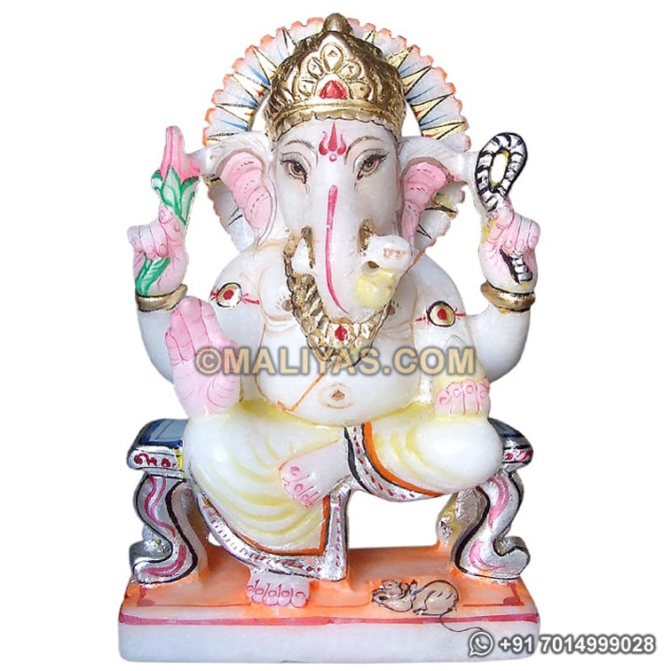 Ganesh Statue from White Marble