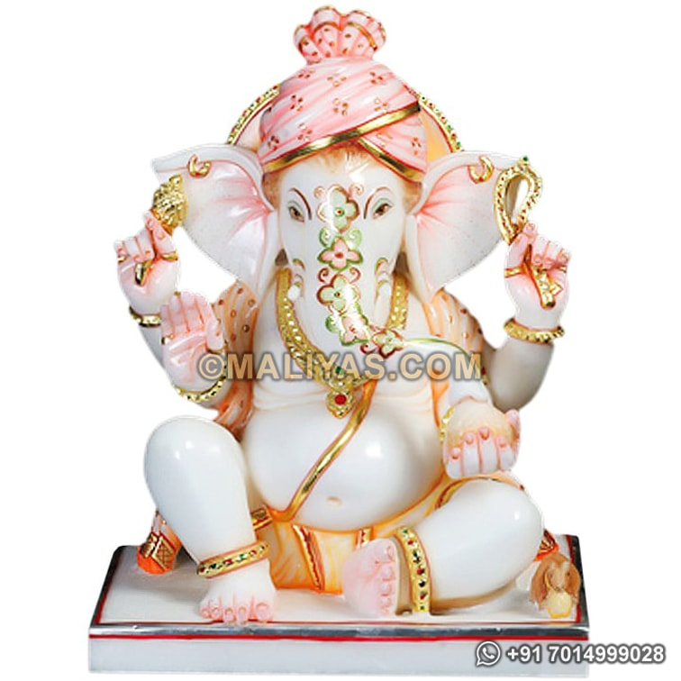 Ganesha Statue from White Marble