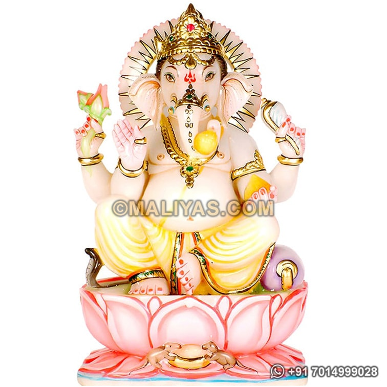 God of Ganesh marble statue