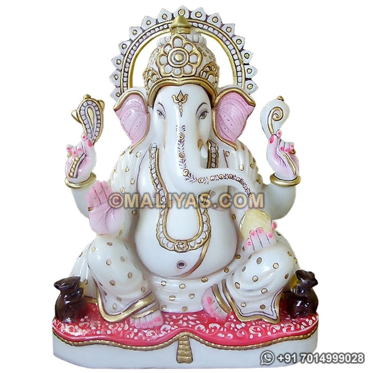 Lord Ganesh Statue in marble stone