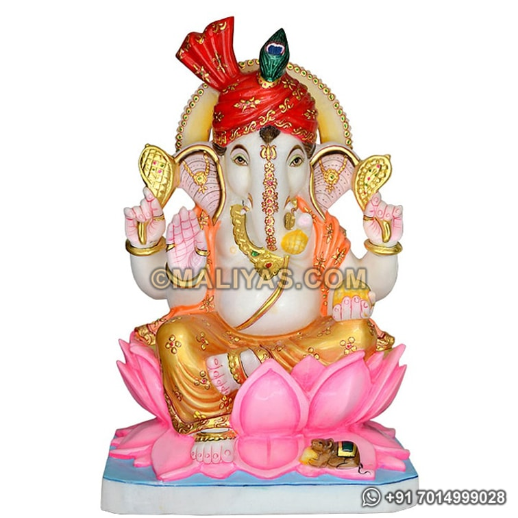 Marble Ganesh Murti from marble stone