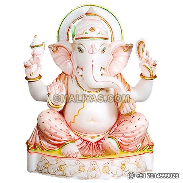 Marble Ganesh ji statue from White Marble