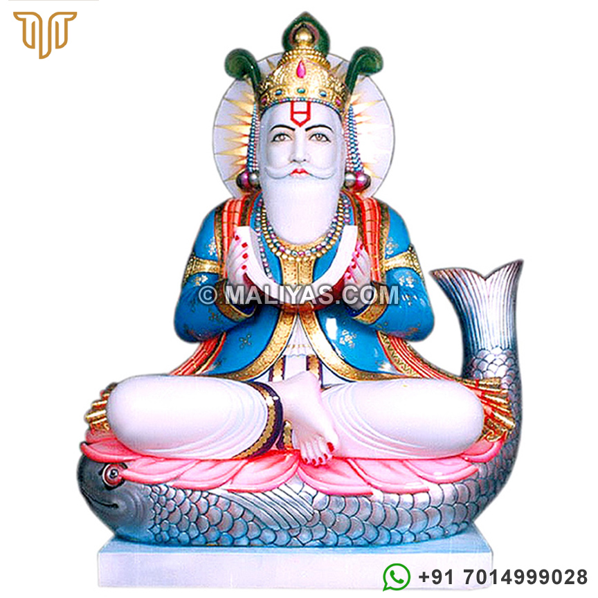 Marble Statues of Lord Jhulelal