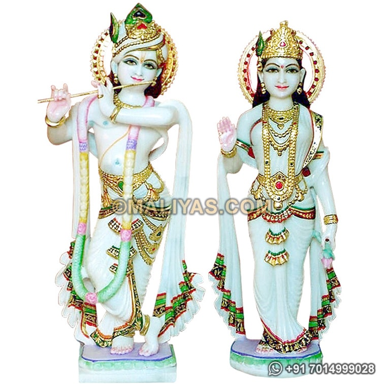 Masterpiece of Lord krishna from Marble