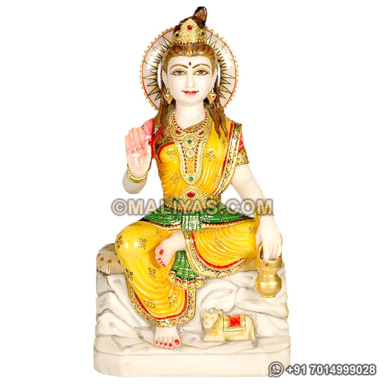 Parvati Statue in marble Stone