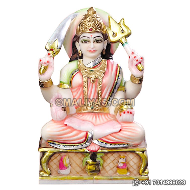 Santoshi maa statue from Marble Stone