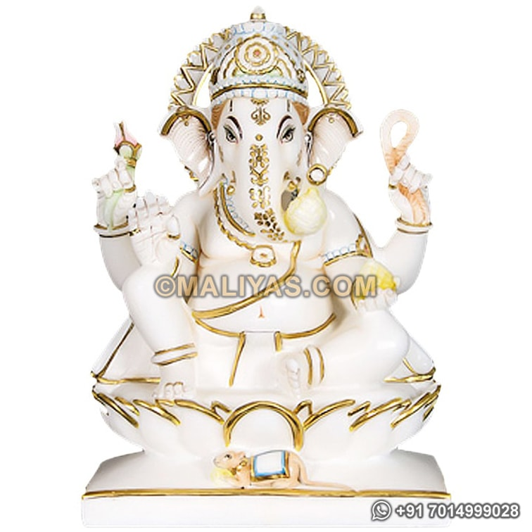 Superior quality Marble Ganesh Statue