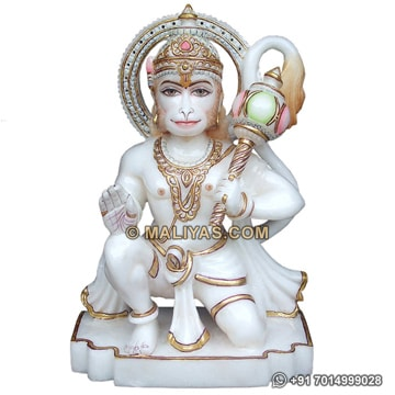A Beautiful hanuman from White Marble