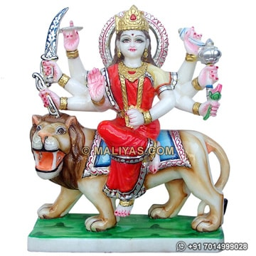 Beautiful Durga Statue from makrana Marble