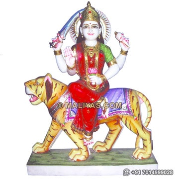 Beautiful Goddess Durga Hindu marble Statues