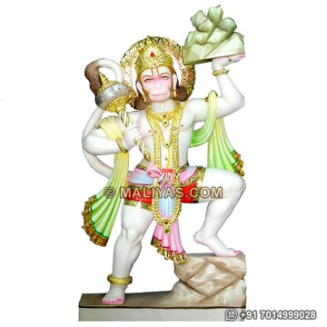 Beautiful Hanuman Statue with painting