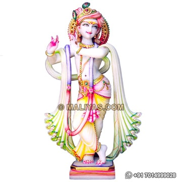 Beautiful Krishna Murti From Marble stone