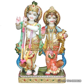 Beautiful Lord Radha Krishna Statue