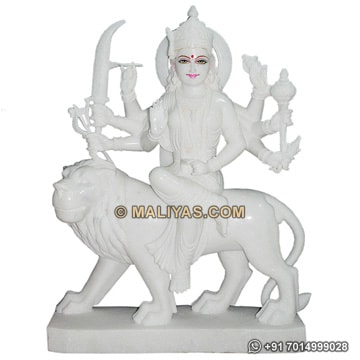 Durga Maa Murti from White Marble