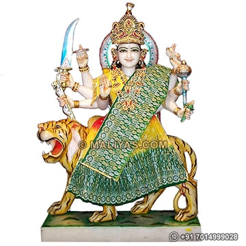 Durga Statue carved in makrana marble