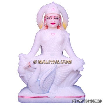 Gayatri statue from white Marble Stone