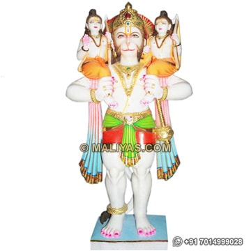 Hanuman carrying lord ram and laxman on shoulders