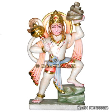 Hanuman statue from white marble
