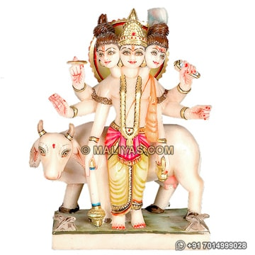 Lord Dattatreya from White Marble