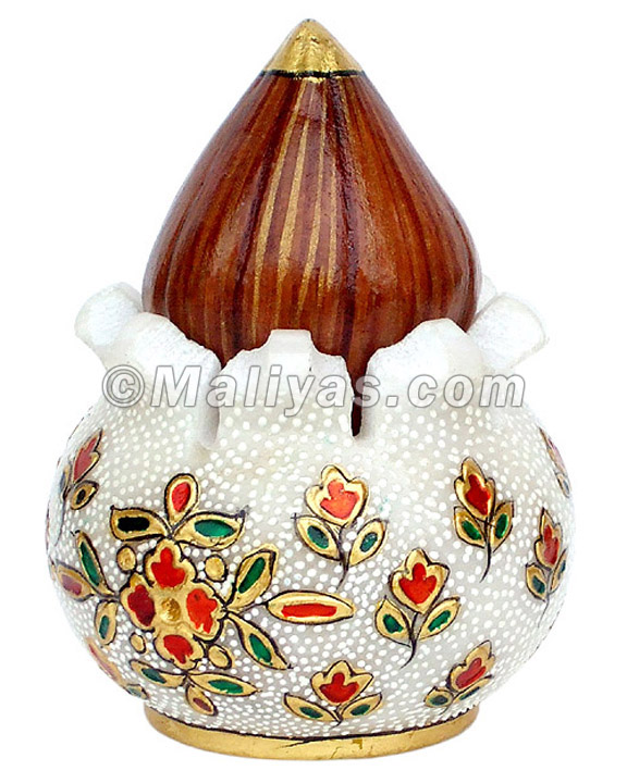 Marble Narial Kalash with painting