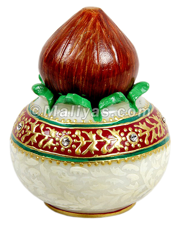 Marble pooja Kalash for gifting