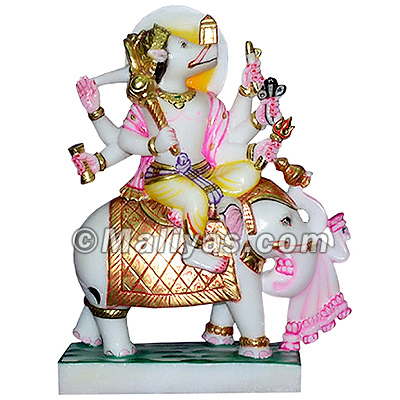 Manibhadra Statue from White Marble