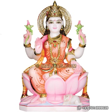 Marble Goddess Laxmi Statue for temple