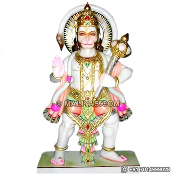 Marble Hanuman statue carved out from marble