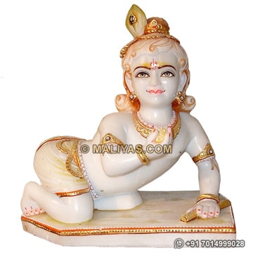 Marble Ladoo gopal Murti from marble Stone
