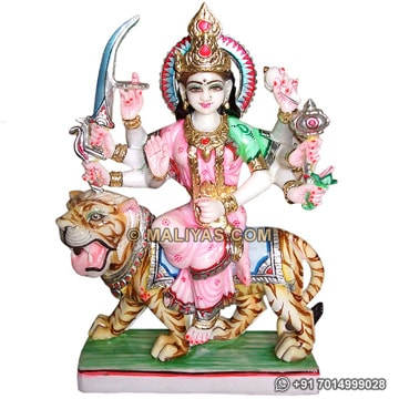 Marble Maa Amba ji Statue for temple