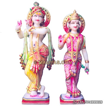 Marble Radha krishna idol for temple