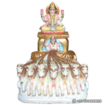 Marble Statues of Lord Surya