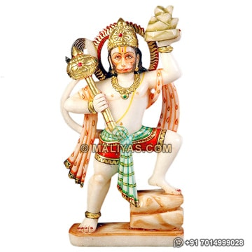 Marble hanuman statue for temple