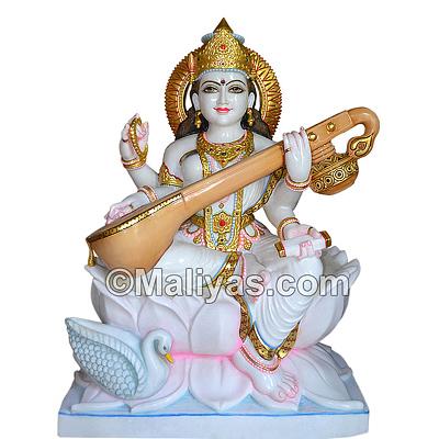 Buy Saraswati Mata Statue Online Marble Saraswati Murti