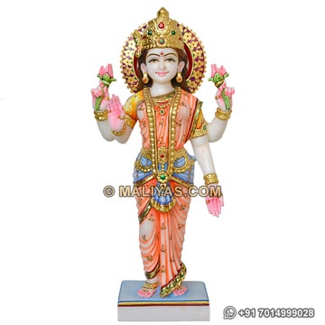 Standing Laxmi Maa marble Statues