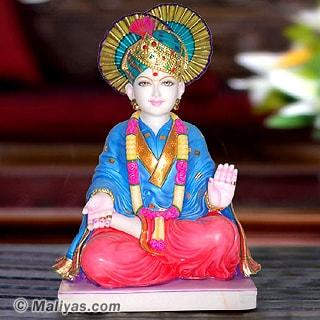 Marble Swami Narayan Statue Lord Swaminaraiyan Marble